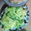 タケノコご飯と春キャベツ