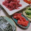 サルエルパンツ、あと少し(着物リメイク本より)~♪ &  キハダマグロの中落ちで手巻き寿司~♪