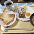 朝飯。胃の調子がまだ悪いです。ヘルシー食。いただきます。