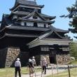 展示物撤去中の松江城
