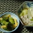 中の坊瑞苑の特選ポン酢で、豚肉のしゃぶしゃぶ^0^