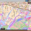 高潮対策。年度内に見直し案。兵庫県の瀬戸内海沿岸。神戸市、西宮市、尼崎の沿岸の標高0~1~2~3~4の色別標高範囲の地図。