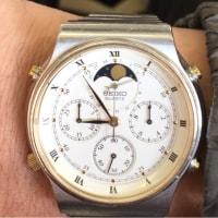 今日の腕時計 12/6 SEIKO CRUISING 7A48-7000 MOON PHASE