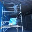 井原市での屋根塗装工事も追い上げ中