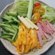 夏 !  冷やし中華・・・炊屋食堂の定番メニュー・・・原価190円。