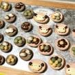 お豆のマグネットを制作中です。今日の手しごと