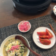 湯豆腐とおじや、手作り紅生姜