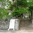 天馬山の割石と山狭神社