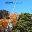 厚木市白山展望台で同軸コリニアの位相差給電実験 12月3日