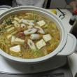 カレー鍋=鶏団子、竹輪、豆腐&焼きネギ