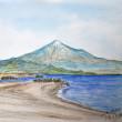 水彩画(82):風景・三保の松原