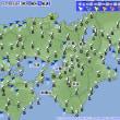12月16日 アメダスと天気図。