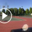 ■サーブ  トスを上げた左手を上に伸ばすことで力みを抜いたサーブを打つことができます  〜才能がない人でも上達できるテニスブログ〜