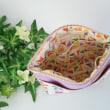 ネコ&花柄!! カラフルなポケットいっぱいポーチ3種できました~(*^▽^*)♪