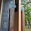 鉄と木のドア取っ手