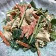 晩ご飯☆豚ロースカツ&鶏ささみと三つ葉のマヨわさび和え☆