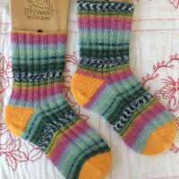 手編み靴下 作品NO.170