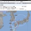 巨大台風18号の軌跡