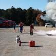 日高市中沢区で消火訓練