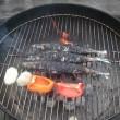 BBQで焼き魚!