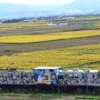 弘南鉄道弘南線と岩木山