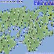 5月19日 アメダスと天気図。