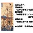 歌川国芳『東都三ツ股の図』の塔について