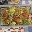 今日のホッピー  基本の野菜炒め