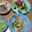 今日の朝食(9月18日)サンマとゴボウの煮物