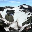 富士山の頂上 噴火口