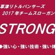 2017年チームスローガン