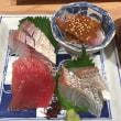 新鮮な鯛の刺身定食