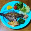 今日の朝食(7月17日)宗八ガレイの干物