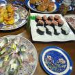 手作りの「中落ちの寿司」と、「モンゴイカのお寿司」が大人気でした。