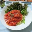 台風一過、夏のような暑い日の夕食