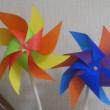 ちとせ橋文化祭の風車