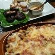 マカロニのチーズ焼き 焼き野菜のオイマヨソース