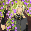 黄昏色の花影