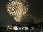 第24回Fukuoka東区花火大会と電車