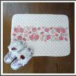 【D.AMANTE】★可愛い薔薇が横並び♪ローズライン キッチンマット