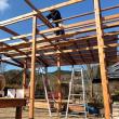 庭の改装 ~ 屋根づくり 1