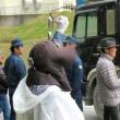 資材搬入と土砂投入に対する抗議行動