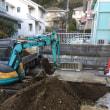 駐車場の掘削、残土搬出