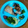 今日の朝食(5月22日)久々にマトウダイ