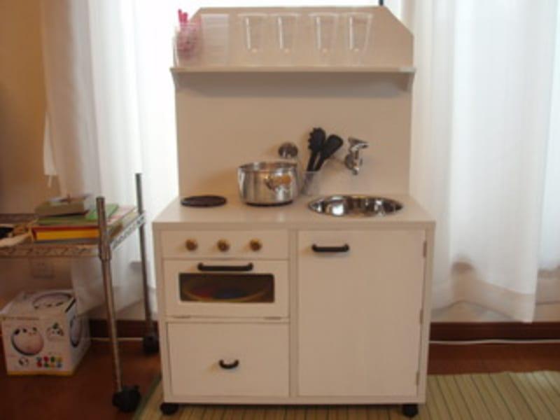 カラーボックスで手作りままごとキッチン 完成!