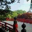 弘前城、岩木山