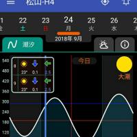 20180924(月)大潮 松山市•今出 夜釣り