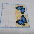 青い蝶のビスコーニュ-4 3羽目の蝶が完成です