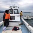 無人島ビーチのプラスチックゴミ拾い