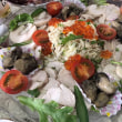 鶏ハム&牡蠣マリネ&大根とカリフラワーのホワイトサラダ